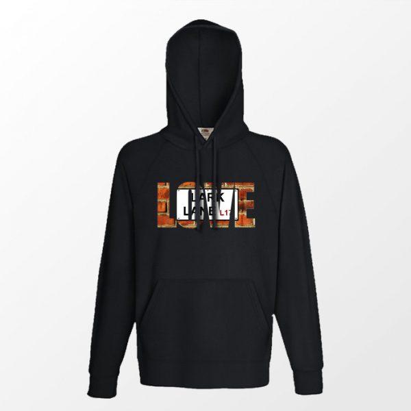 """Black Hoodie """"Love"""" Lark Lane"""