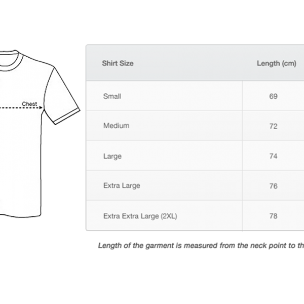 Men's T-Shirt Size Guide