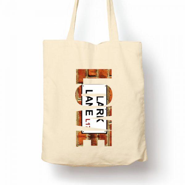 "Natural Tote Shopping Bag ""Love"" Lark Lane"